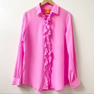 Pure silk pink blouse